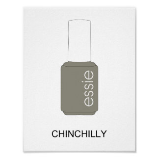 Essie Nail polish - Chinchilly Poster