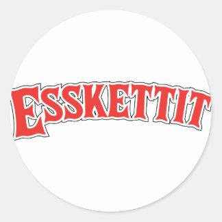 esskettit classic round sticker