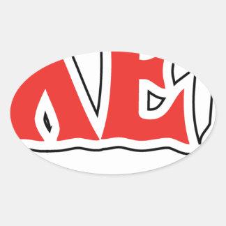 esskettit oval sticker