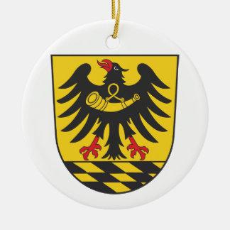 Esslingen district round ceramic ornament