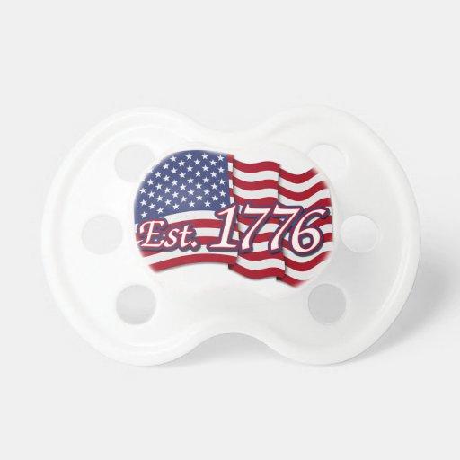Est. 1776 USA Flag Pacifiers