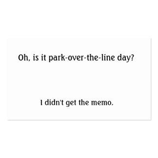 Est-ce parc au-dessus de la ligne jour ? carte de visite standard