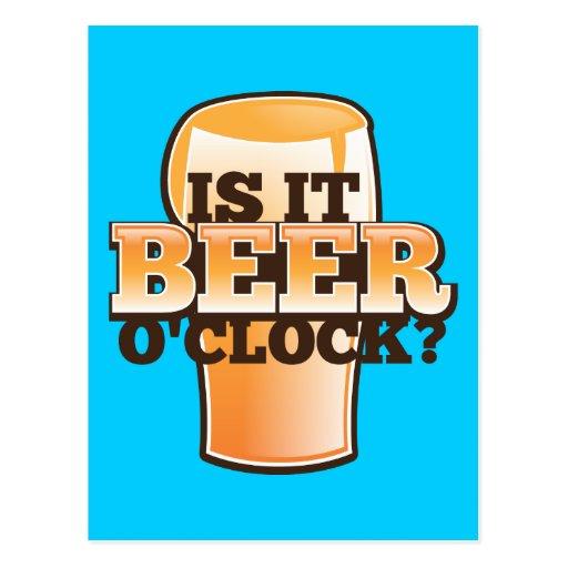 Est il conception relative au temps d'alcool heure carte postale