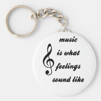 Est la musique à de ce que les sentiments porte-clés
