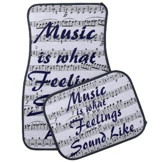 Est la musique à de ce que les sentiments ressembl tapis de sol