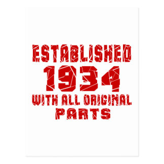 Established 1934With All Original Parts Postcard