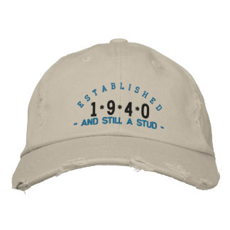 Established 1940 Stud Embroidery Hat Embroidered Hats