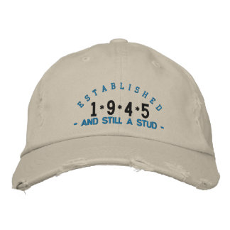 Established 1945 Stud Embroidery Hat Baseball Cap