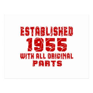 Established 1955 With All Original Parts Postcard