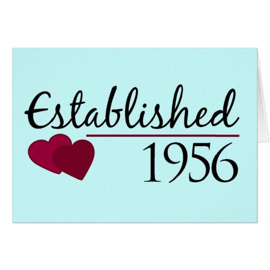 Established 1956 card
