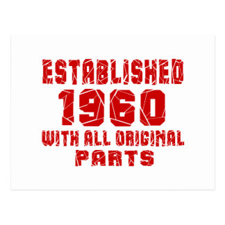Established 1960 With All Original Parts Postcard