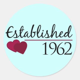 Established 1962 classic round sticker