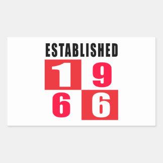 Established 1966 Birthday Designs Sticker