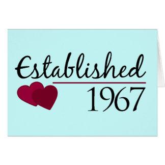 Established 1967 card