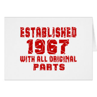 Established 1967 With All Original Parts Card
