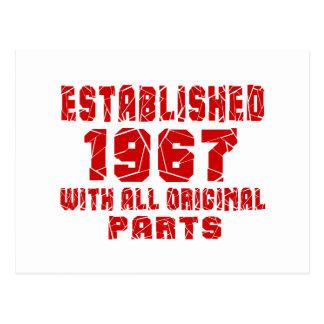 Established 1967 With All Original Parts Postcard