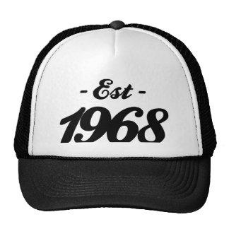established 1968 - birthday trucker hat