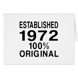 Established 1972 card