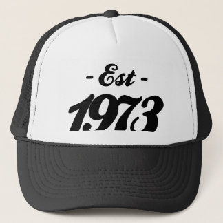 established 1973 - birthday trucker hat