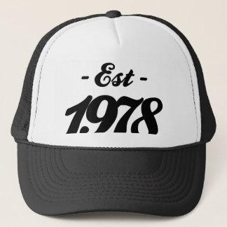 established 1978 - birthday trucker hat