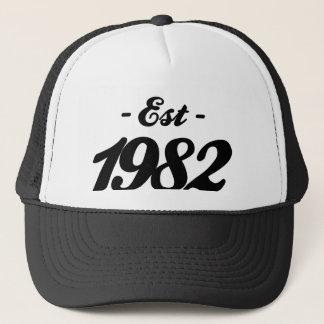 established 1982 - birthday trucker hat