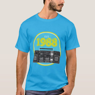 Established 1988 - Retro Boombox T-Shirt