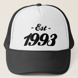 established 1993 - birthday trucker hat