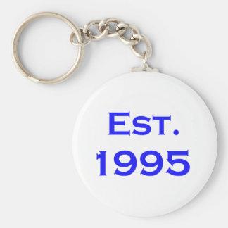 established 1995 keychain