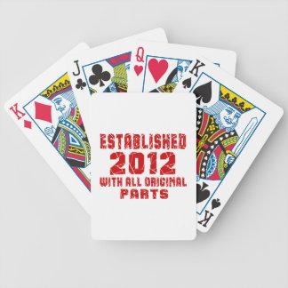 Established 2012 With All Original Parts Poker Deck