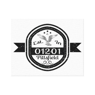 Established In 01201 Pittsfield Canvas Print