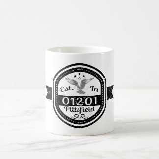 Established In 01201 Pittsfield Coffee Mug