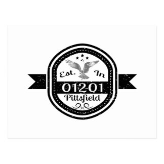 Established In 01201 Pittsfield Postcard