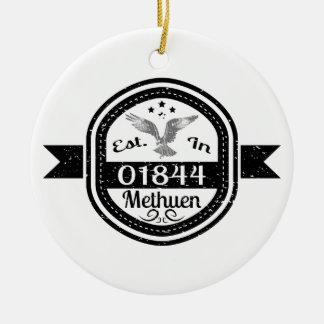 Established In 01844 Methuen Ceramic Ornament
