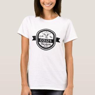 Established In 02124 Boston T-Shirt