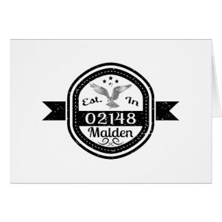 Established In 02148 Malden Card