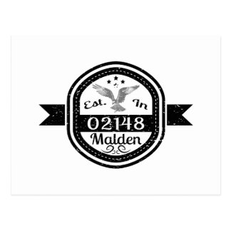 Established In 02148 Malden Postcard