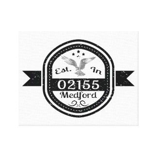 Established In 02155 Medford Canvas Print