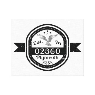 Established In 02360 Plymouth Canvas Print