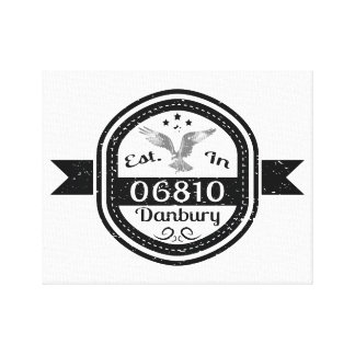Established In 06810 Danbury Canvas Print