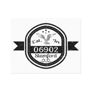 Established In 06902 Stamford Canvas Print