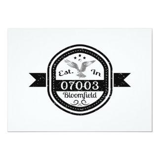 Established In 07003 Bloomfield Card