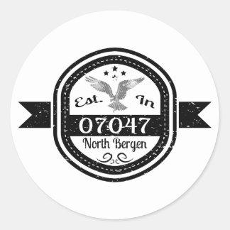 Established In 07047 North Bergen Classic Round Sticker