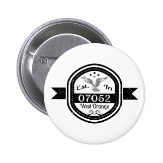 Established In 07052 West Orange 2 Inch Round Button