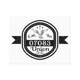 Established In 07083 Union Canvas Print