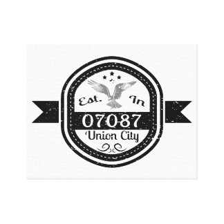 Established In 07087 Union City Canvas Print