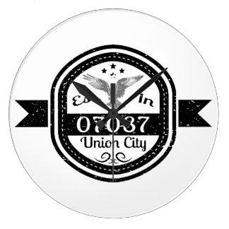 Established In 07087 Union City Large Clock