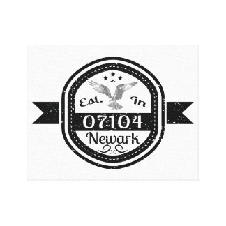 Established In 07104 Newark Canvas Print