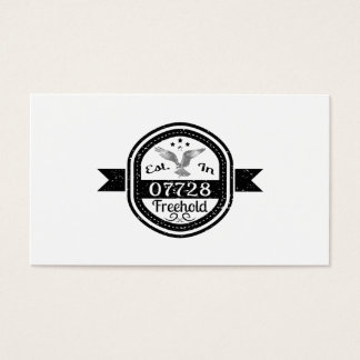 Established In 07728 Freehold Business Card