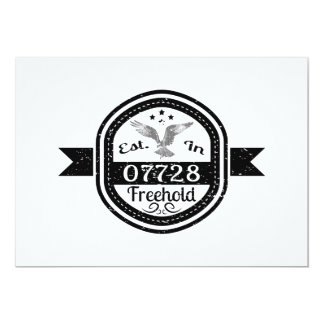 Established In 07728 Freehold Card