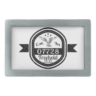 Established In 07728 Freehold Rectangular Belt Buckles